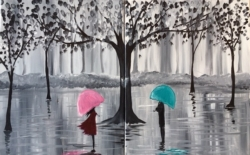 New Event - Valentines Day: A Walk in the Rain. Paint with a partner option!*