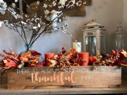 New Event - Be Thankful Large Centerpiece Box. You customize!