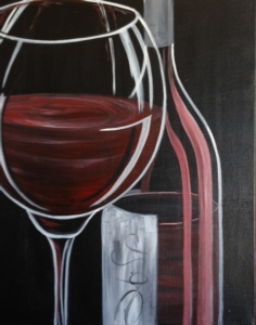 New Event - Bubbles or Bordeaux. Paint white or red wine!