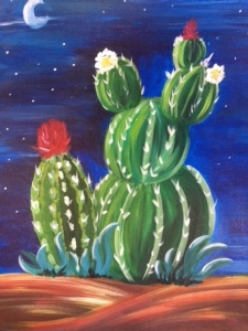 New Event - Cactus. Choose background color! Ages 7+