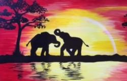 New Event - Safari Sunset. You choose giraffes, elephants or lions!