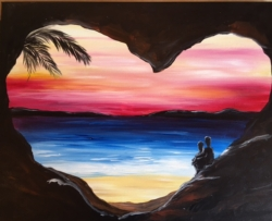 New Event - Virtual Valentines Day Class! Paint with a partner option. Includes all supplies!