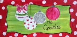 New Event - Family Ornaments. Includes Glitter!