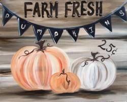 New Event - Farm Fresh Pumpkins. Complimentary glass of wine*