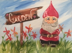 New Event - Garden Gnome. Complimentary mimosa
