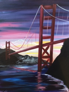 New Event - NEW Painting! Golden Gate Sunset
