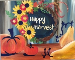 New Event - Happy Harvest. Paint on wood or canvas!*