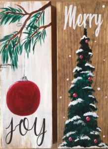 New Event - Holiday Wood Panels. You choose words!