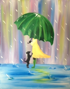 New Event - Little Green Umbrella. Complimentary glass of wine!*