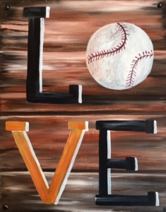 New Event - Baseball LOVE (can substitute football, soccer ball, etc). You choose the colors!