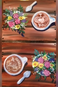 New Event - Love you a Latte! Paint all on one canvas....or bring someone and you each paint half on your own canvas!
