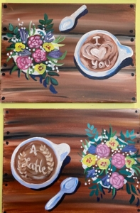 New Event - Love You a Latte. Paint with a Loved One!