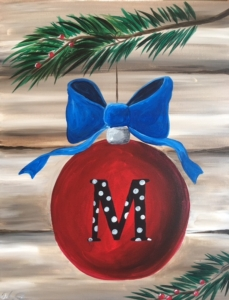 New Event - Monogram Ornament. New Painting! *See Event Details