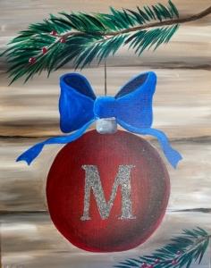 New Event - Monogram Ornament. With Glitter!