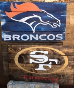 New Event - NFL DIY Wood Sign Class. You choose team and customize!