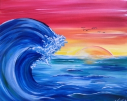 New Event - New Painting! Ocean Waves