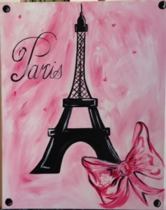 New Event - Eiffel Tower. Choose background color! Ages 7+