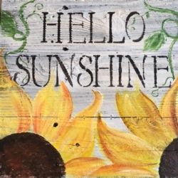 New Event - Rustic Wood Class. Hello Sunshine