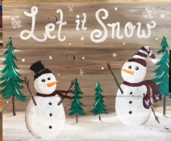 New Event - Slat Wood Painting. Let It Snow!