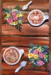 New Event - Love you a Latte. Paint all on one canvas or bring someone special- each creates half on their own canvas!