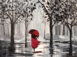 New Event - A Walk in the rain. Customize with colors or black and white!