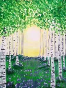 New Event - Springtime Birches. Complimentary glass of wine*