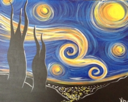 New Event - Starry Night. Complimentary glass of wine*
