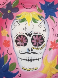 New Event - Sugar Skull. Choose colors and flowers!