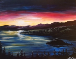 New Event - Sunset Over Tahoe.