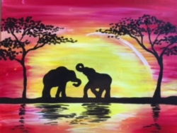 New Event - Sunset Safari Elephants. Please indicate in comments if you want to paint giraffes, lions, or elephants!