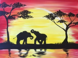 New Event - Sunset Safari. You choose elephants, lions or giraffes!*
