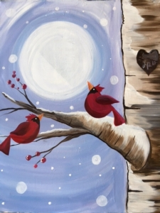 New Event - Winter Cardinals. New Painting!