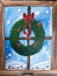 New Event - Winter Window. Paint your wreath with glitter!