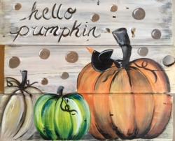New Event - Hello Pumpkin. Slat Wood Painting!