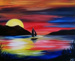New Event - Sunset Sail. Dad paints for $25!*