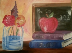 New Event - Teacher Appreciation Night! Teachers paint for only $25 OR have your little one paint this for his/her teacher!