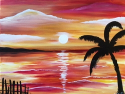 New Event - NEW Painting! Tropic Sunset