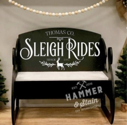New Event - Hammer and Stain Sleigh Benches SALE Reg $125 now $95