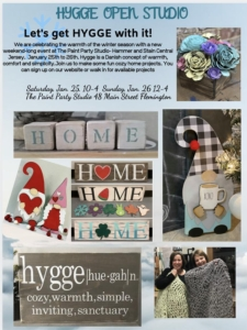 New Event - OPEN STUDIO Lets get HYGGE!