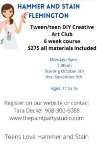 New Event - Tween/Teen 6 week Art Enrichment Club