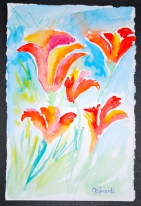 Art for Sale - Flowers in Bloom [click to enlarge]