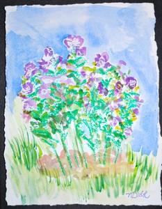 Art for Sale - Purple Bush