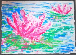 Art for Sale - Lilies on the Water