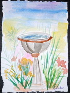 Art for Sale - Bird Bath