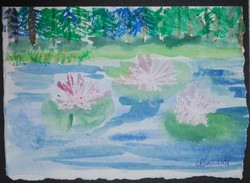Art for Sale - Lilies by the Pines