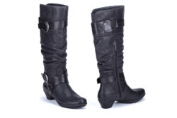 Bargain Bin - Buy Shoes Online - Brujas Tall- Black [click to enlarge]