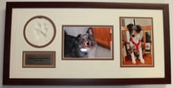 Smokey's Bear Hug Paw Print Frames - My Pet 'Paw Print' Picture Frame - 9 x 19 inches [click to enlarge]