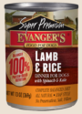 Canned Dog Food - Evanger's Lamb and Rice Dinner Dog 13 oz.