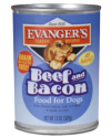 Canned Dog Food - Evanger's Classic Beef&Bacon Dog 13 oz.