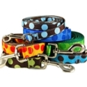 Leashes - Walk-E-Woo 5 ft. Polka Dot Leashes-Special Order